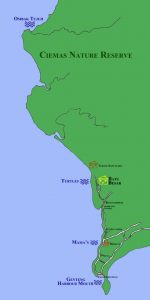 map of waves in Ujung Genteng 150x300 Turtles Ujung Genteng Surf Tour 8D7N