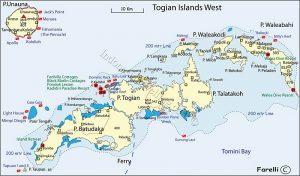 Togian Islands Maps 300x176 Togean Islands National Park, Central Sulawesi