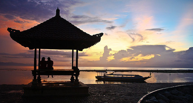 Sunrise in Sanur beach, Bali