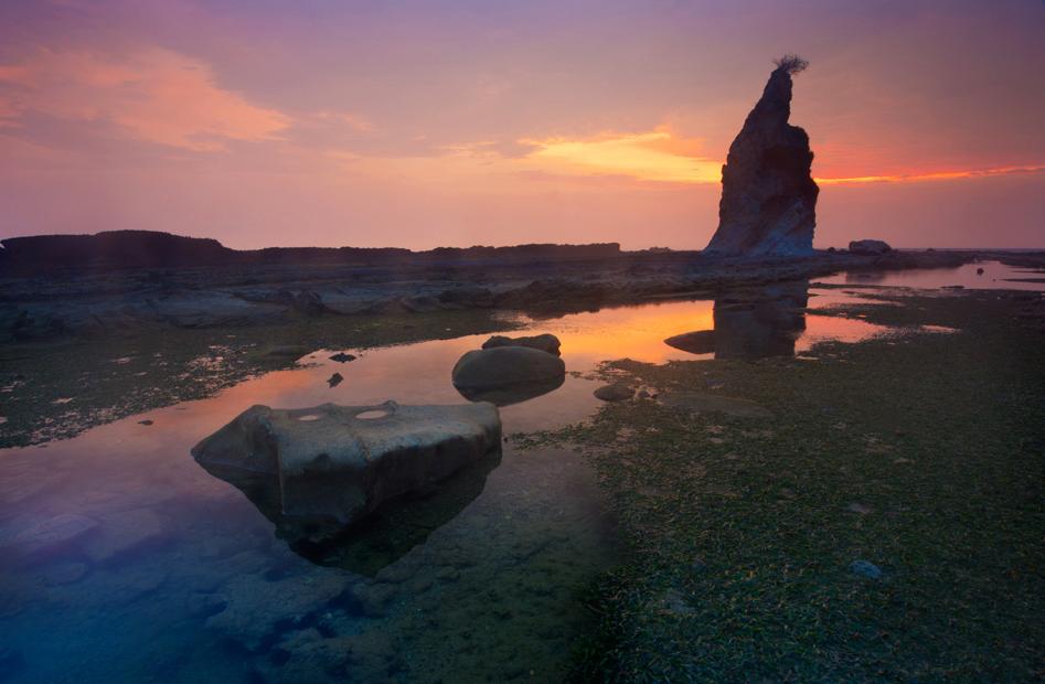 Sunset di Tanjung Layar Sawarna Explore Sawarna Village 3D2N