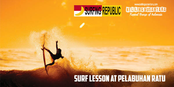 Surf Lesson at Pelabuhan Ratu - Sukabumi - West Java