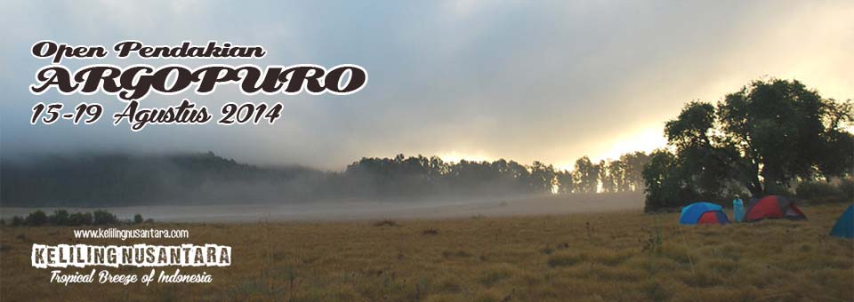 banner open pendakian argopuro 15 19 agustus 2014 Open Climbing Mount Argopuro