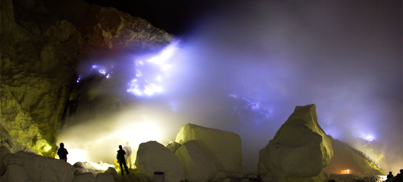 Blue Fire of Ijen Crater, Banyuwangi
