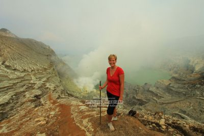 The caldera of Ijen