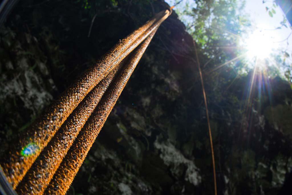 Jomblang caving rope