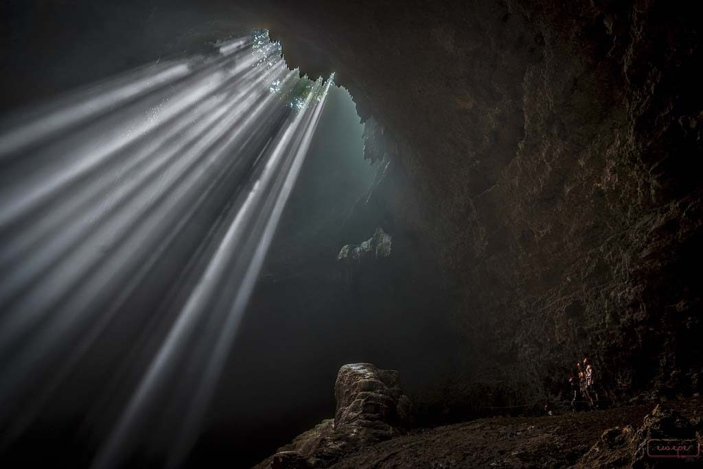 Light of Heaven at Jomblang cave