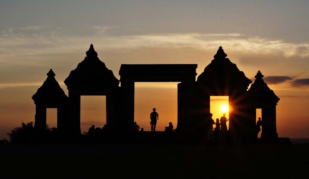 Sunset in Ratu Boko