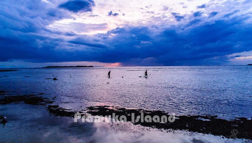 Sunset at Pramuka island