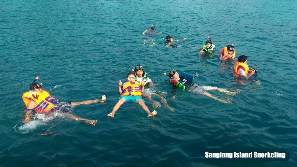 Snorkeling at Sangiang island