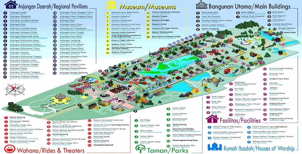 TMII Attractions Map